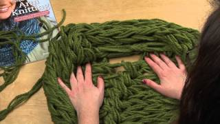 Arm Knitting: HI-DEF Finishing The Infinity Scarf - Seaming and Weaving in Ends