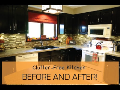 Clean and Clutter-free Kitchen Before and After