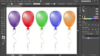 How to Draw a Balloon in Adobe Illustrator
