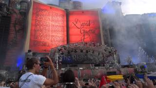 TOMORROWLAND 2012 INTRO DAVID GUETTA MAKING PEOPLE WAIT LIVE HD