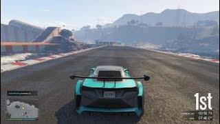 Grand Theft Auto V stunt racing trolling