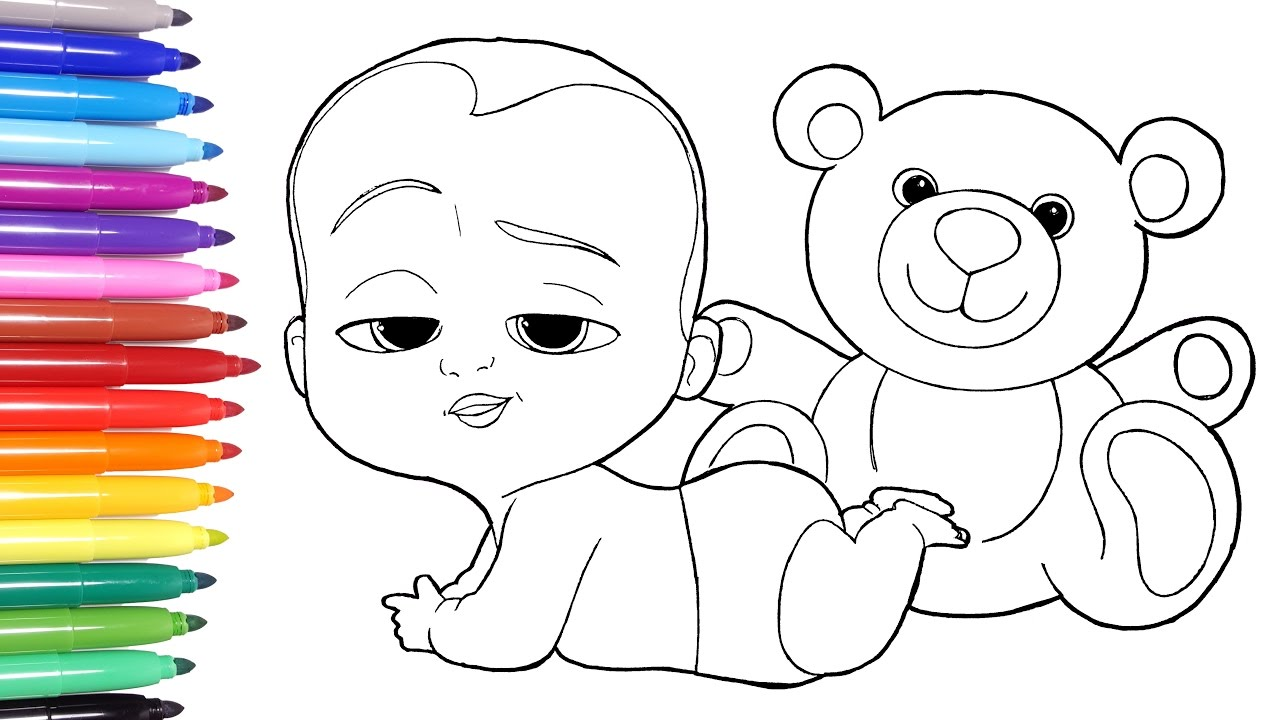 THE BOSS BABY Boss Baby Coloring Page Learn Colors For Kids 13