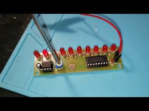 CD4017 LED Flash DIY Kit 3-5V Light LED Module NE555