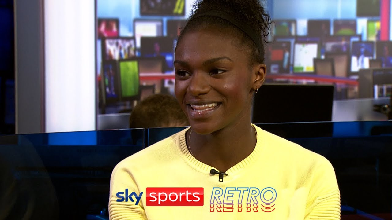 Dina Asher-Smith after becoming the fastest British female