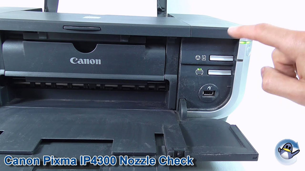 how to do a nozzle check test page on a canon pixma ip4300 printer