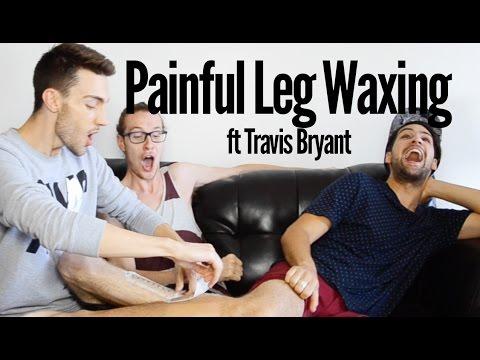 Painful Leg Waxing ft Travis Bryant
