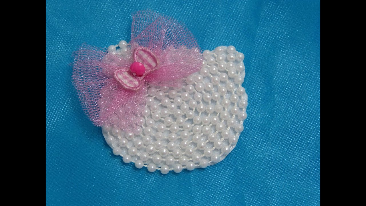 Como Hacer elegante Moo facil en fieltro y perlas