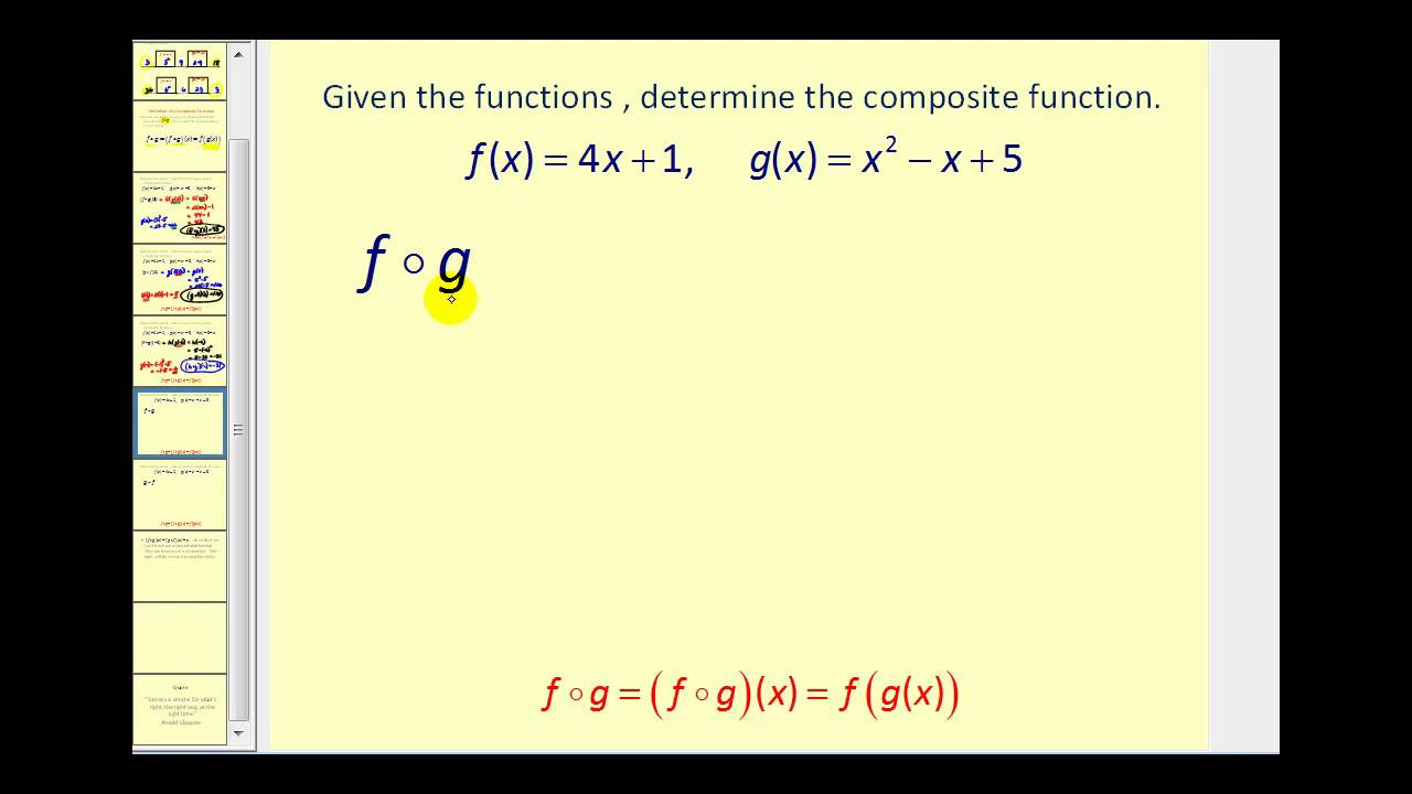 Composite Functions (video lessons, examples and solutions) Intended For Composite Function Worksheet Answers
