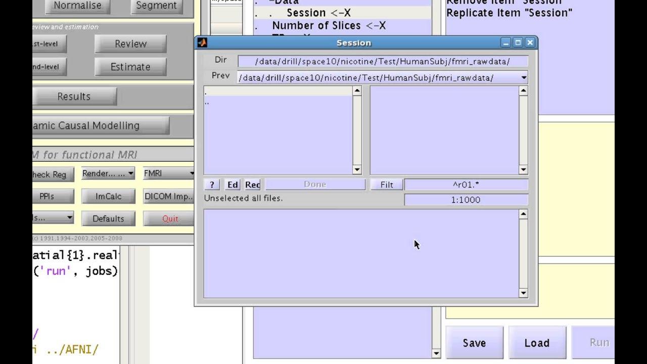 SPM File Selection