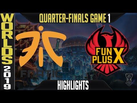 FNC vs FPX Highlights Game 1 | S9 LoL Worlds 2019 Quarter-finals | Fnatic vs FunPlus Phoenix G1