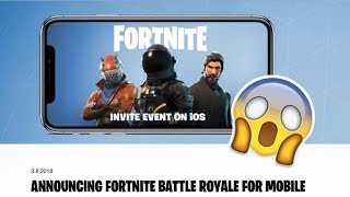 THE REAL FORTNITE BATTLE ROYALE COMING TO IOS AND ANDROID!!!