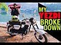 #Yezdi#Jawa Long Ride on Yezdi CL2   * BIKE BROKE DOWN *