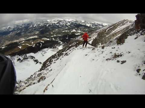 Ski run down Lone Mountain Peak   Big Sky, MT  March 2017