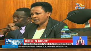 IEBC seeks clarification on the role of chair at supreme court