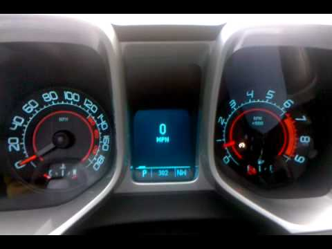 Chevrolet Camaro Zl1 >> 2010 Camaro SS Dash Start - YouTube