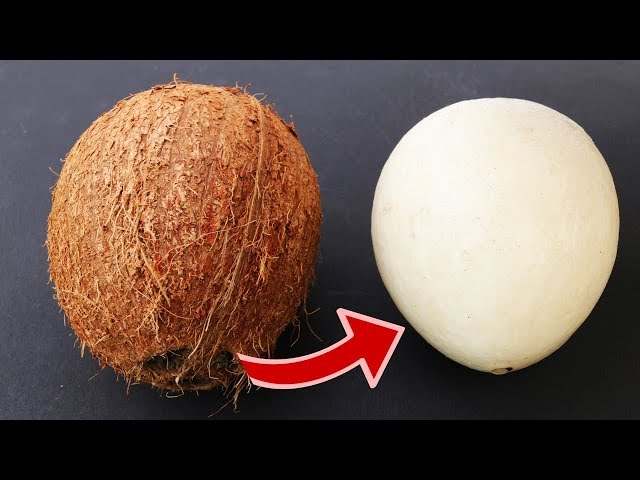 How to  remove COCONUT Flesh From Shell,  2 different ways