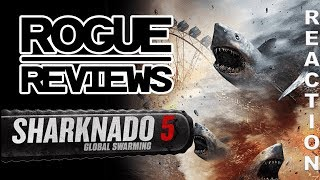 SHARKNADO 5: GLOBAL SWARMING Trailer Reaction | Rogue Reviews streaming