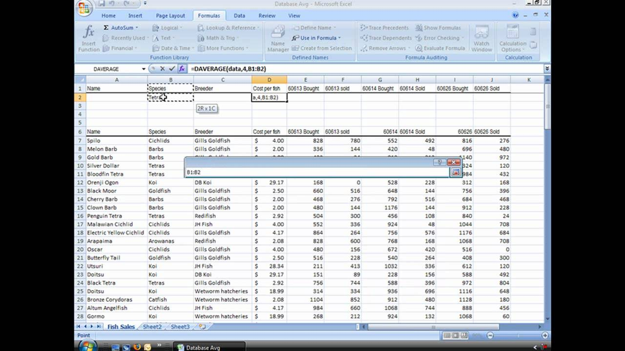 How to calculate moving average in excel formula