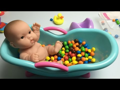 Baby Doll Bath In Candy Pretend Play