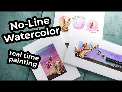 No-line Watercoloring Tips for Beginners (real time painting)
