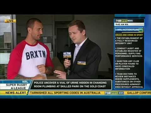 Quade Cooper Fox Sports News - Day in the Life of Quade