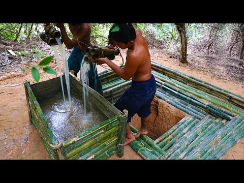 Build Bamboo Jar For Save Groundwater (wells Bamboo)