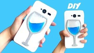 DIY FUNDA LÍQUIDA para móvil - Copa de agua o vino con líquido thumbnail