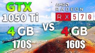 RX 570 vs GTX 1050 Ti in 2019