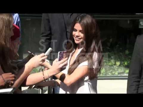 Selena Gomez SEXY CLEAVAGE promotion at NRJ radio station Paris thumbnail