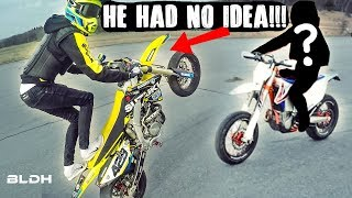 BLDH goes Undercover | Supermoto KTM 500 EXC (TRY NOT TO CRINGE)