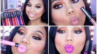 Kat Von D Everlasting Liquid Lipstick LIP SWATCHES/REVIEW | Katie Danger
