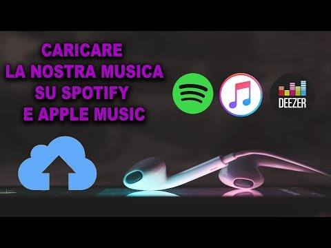Aggiungere musica su Spotify e Apple Music