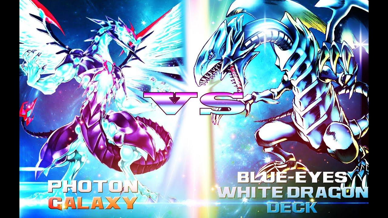yugioh photon galaxy vs blue eyes white dragon deck youtube