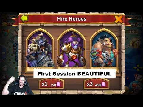 Rolling 120000 LIVE 4 MechTessa First Session New Update Castle Clash