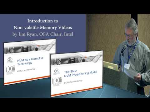 Introduction to Non-Volatile Memory Talks at the OpenFabrics Workshop