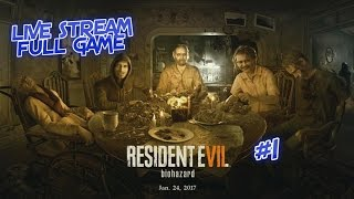 Resident Evil 7: Biohazard FULL GAME LIVE STREAM #1 Meet the Bakers - #ps4live - PS4 | TheGebs24