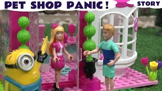 Mega Bloks Barbie Pet Shop Play Doh Minions Funny Thomas The Tank Kids Toys Pretty Pets Barbie