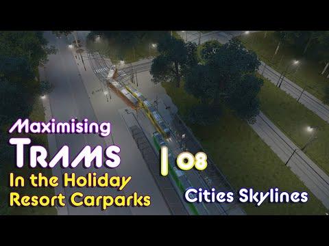 Cities Skylines: Isle of Flexum #8 - Maximising Trams around a Carpark |