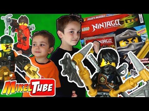 Abrimos 3 Revistas LEGO Ninjago con Minifigura Exclusiva