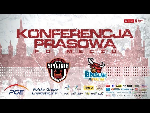 Konferencja prasowa po meczu PGE Spójnia Stargard -  Arged BMSlam Stal Ostrów Wlkp.