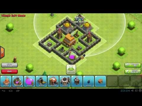Clash Of Clans - BEST Defence Setup - Townhall Lvl 4!