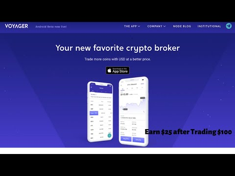 #Voyager | #Crypto Broker | Trade Commission Free | Earn $25 Of #Bitcoin