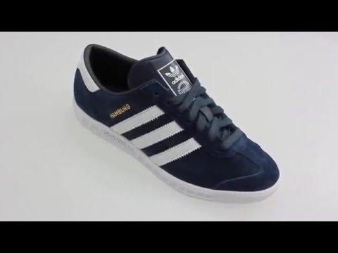 e48abe6f715 Adidas HAMBURG blauwe lage sneakers - YouTube
