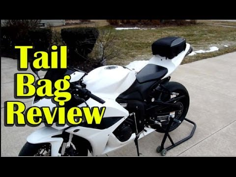 Sportbike Motorcycle Tail Bag Install And Review Nelson Rigg Cl