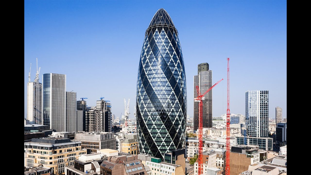 Facts About Gherkin Tower 30 St Mary Axe In London Youtube - London-gherkin-an-unusual-eggshaped-building