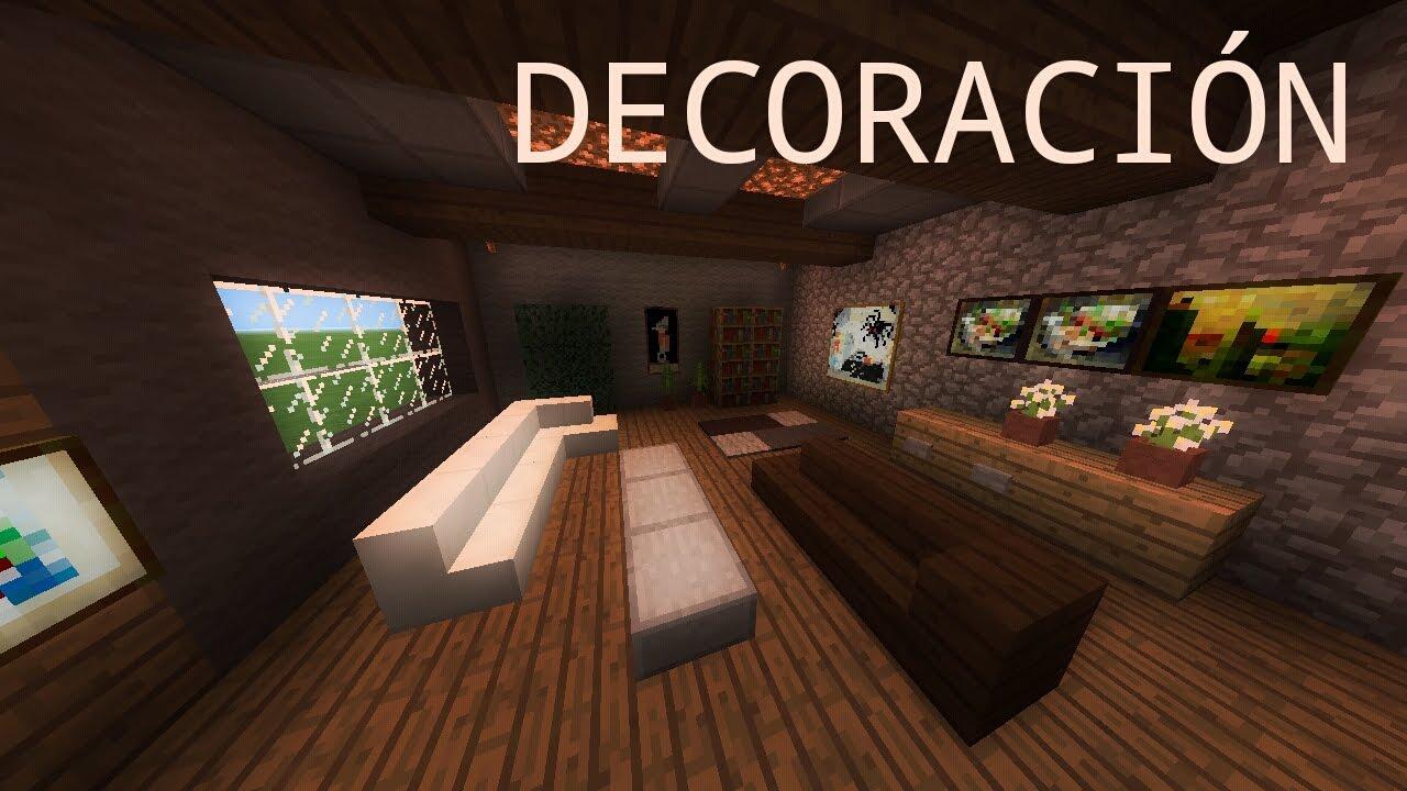 minecraft pe como decorar una sala moderna como hacer una sala moderna o de estar youtube. Black Bedroom Furniture Sets. Home Design Ideas