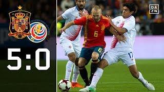 Furia Roja zu stark für Costa Rica: Spanien - Costa Rica 5:0 Highlights   Testspiel   DAZN