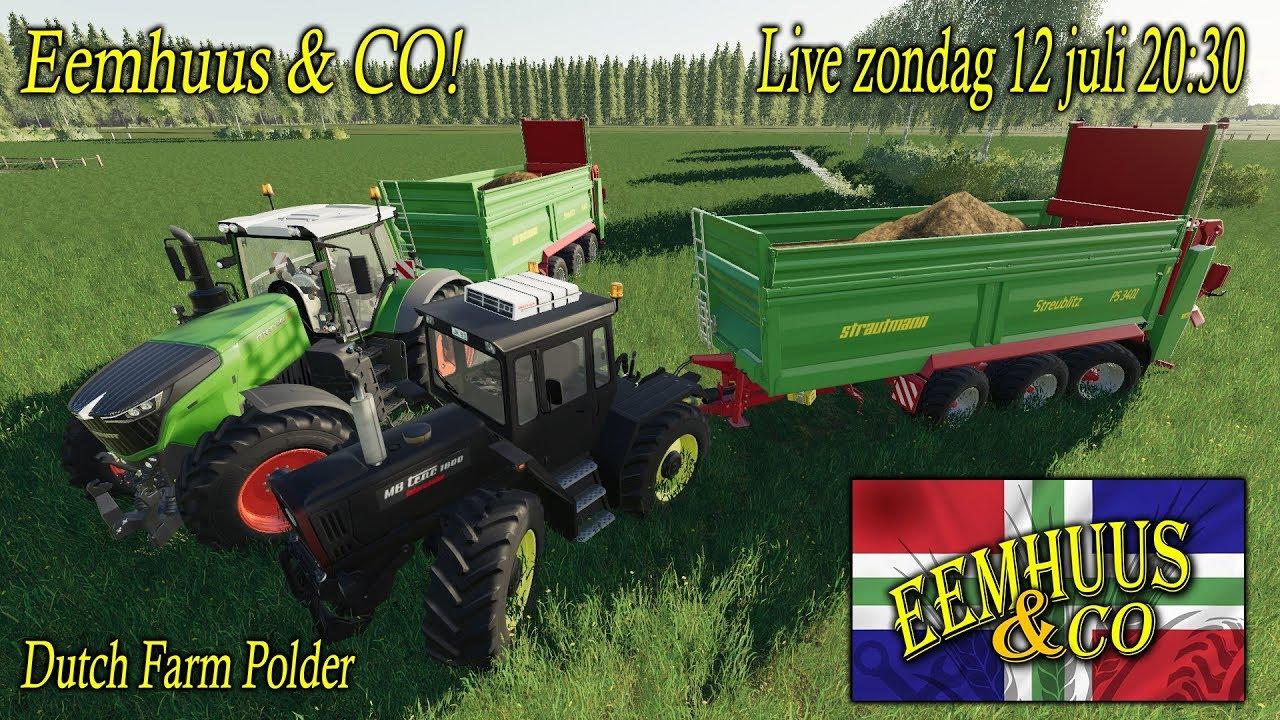 🔴 | LIVE | Farming Simulator 2019 | Dutch Farmpolder | SJOMP! | De Maatschap!  🔴