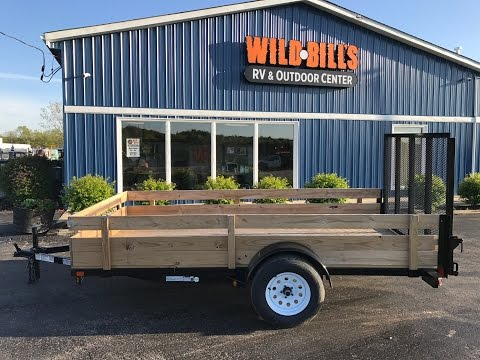 Liberty 6x12 open utility trailer with wood sides $1550