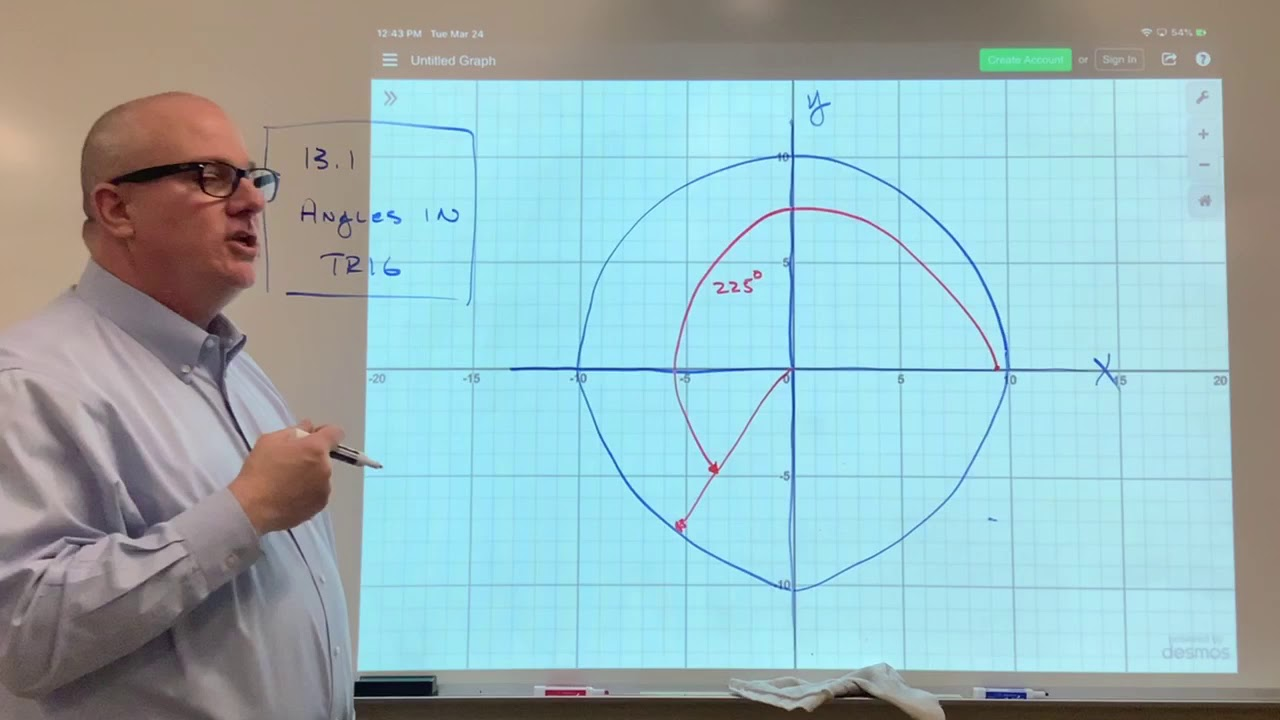 Lesson 13.1 Angles in Trig - YouTube